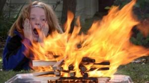 vaikai ir ugnis